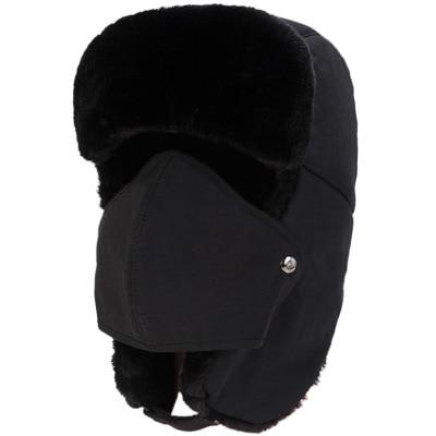 Balaclava Earflap Bomber Hats Caps Scarf Men Women Russian Trapper Hat Trooper Earflap Snow Ski Hat - SolaceConnect.com