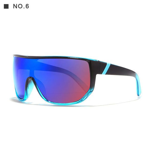 Oversized Unisex Big Shield Anti-Reflective Sunglasses with Designer Box - SolaceConnect.com
