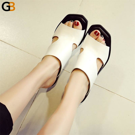 Women's Rome Style Summer Casual Platform Sandals in Cow Leather - SolaceConnect.com