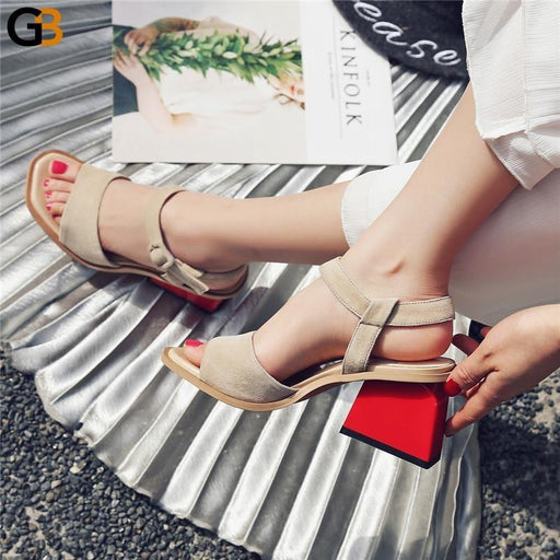 Genuine Leather High Heel Cross Strappy Retro Shoes for Women - SolaceConnect.com