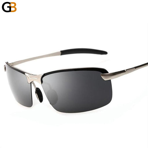 Classic Rectangle Wrap Polarized Designer Fashion Men's Sunglasses - SolaceConnect.com