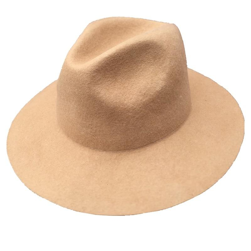 d065692219d Classic Men s Wool Felt Wide Brim Fedora Gangster Mobster Hat -MANY COLORS  - SolaceConnect.