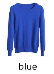 TAILOR SHEEP Cashmere wool Sweater Women solid color Pullover o-neck sweater Long sleeve Knitted - SolaceConnect.com