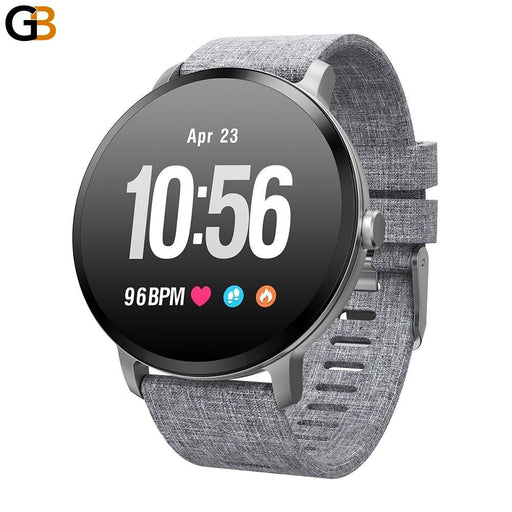 Activity Tracker Fitness Tempered Glass Smartwatch with Heart Rate Monitor - SolaceConnect.com