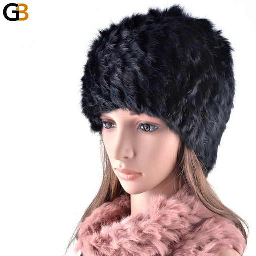 Vogue winter beanies cap female rex rabbit hat and scarf collar dual purpose hats for woman - SolaceConnect.com
