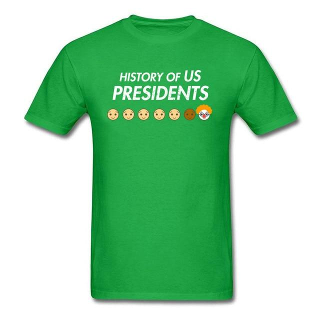 History Of US Presidents Novelty T-shirt Men Cartoon T Shirt Funny Designer Summer Clothes Donald - SolaceConnect.com