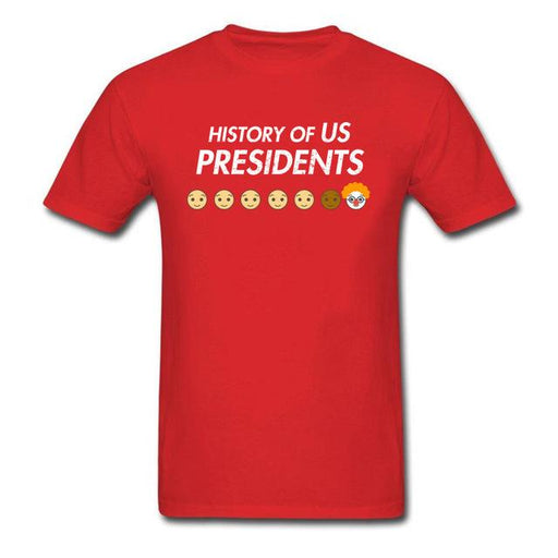 Men's Novelty Summer History of US President Cartoon O-Neck T-Shirt - SolaceConnect.com