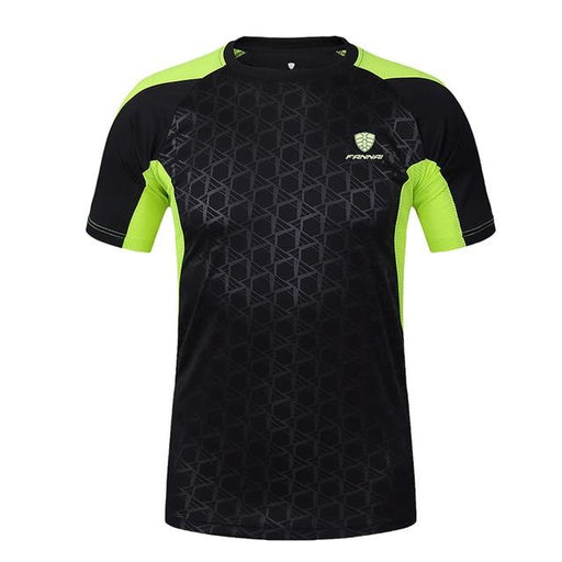 Men's Fitness Sports Running Clothes Quick Dry Printed T-Shirt - SolaceConnect.com