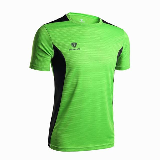 Men's Basketball Soccer Fitness Running Quick Dry Short Sleeve T-Shirt - SolaceConnect.com