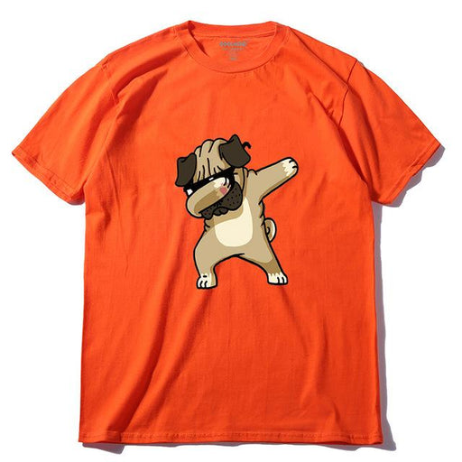 100% Cotton O-Neck Casual Men's T-Shirt with BadPug Print for Summer Wear - SolaceConnect.com