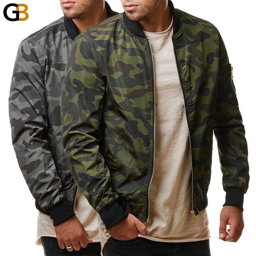 Camouflage Jacket Men Casual Loose Masculine Bomber Jacket And Coats Plus Size M-7XL 100kg Army - SolaceConnect.com