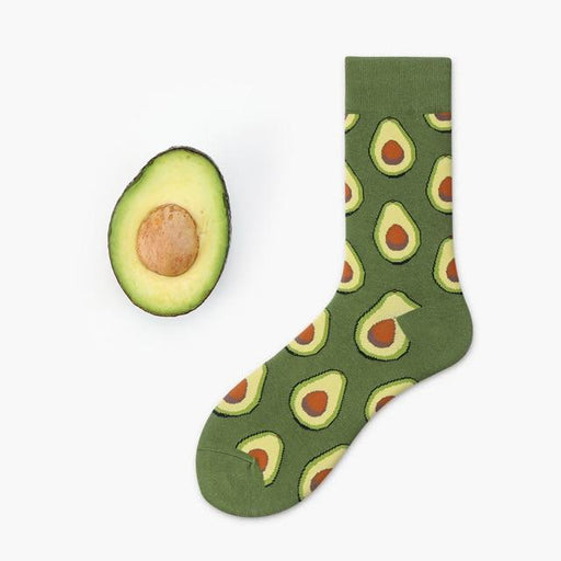 Unisex Avocado Omelette Apple Plant Fruit Food Funny Cotton Winter Socks - SolaceConnect.com