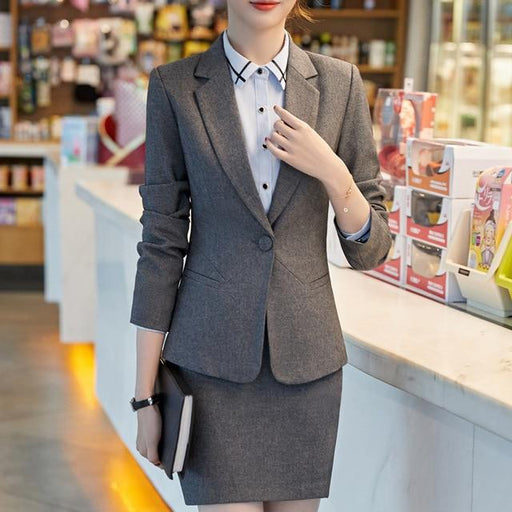 Formal Office Wear Pant Suits with Slim Fit Slim For Plus Size Women - SolaceConnect.com