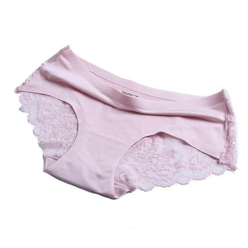 Women's Seamless Cotton Crotch Panties with Sexy Lace Decoration - SolaceConnect.com