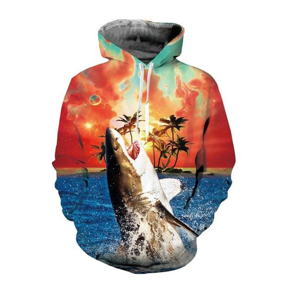 Hip Hop Unisex Autumn Winter 3D Animal Hoodies Pullover Sweatshirts - SolaceConnect.com