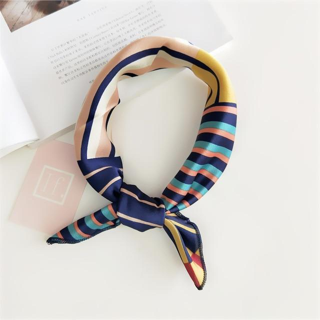 50X50CM Fashion Women Square Scarf All-match Wraps Elegant Floral Dot Spring Summer Head Neck Hair - SolaceConnect.com