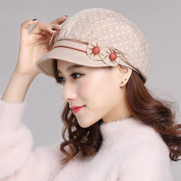 Arrival Fashion Visore Hat Female Korean Leisure Cap Students Beret Cap Autumn Elegant Spring - SolaceConnect.com