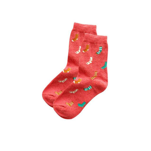 Women socks autumn winter new fashion 5 color cartoon pattern series ladies trend Harajuku - SolaceConnect.com