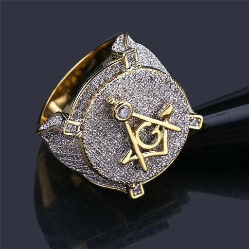High Quality Iced Out Round Micro Pave Zircon Hip Hop Gift Rings for Men - SolaceConnect.com