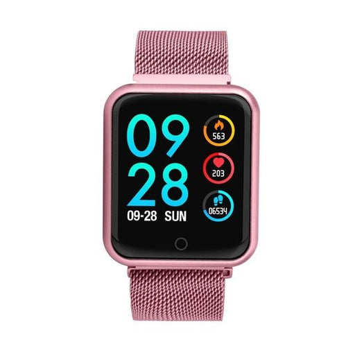 Sport Fitness Smartwatch with Heart Rate Tracker Blood Pressure Monitor - SolaceConnect.com