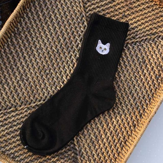 Warm Harajuku Cute Embroidery Animal Funny Socks Women Kawaii Japanese Skarpetki Socks Novelty - SolaceConnect.com