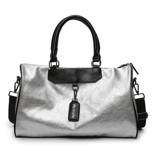 Ladies Korean Synthetic Leather Lightweight Large Bag for Travel Fitness - SolaceConnect.com