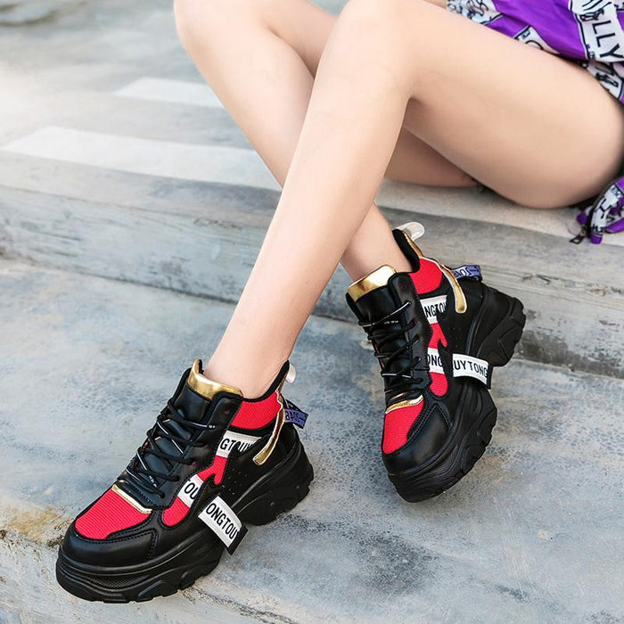 3d34b5d3fd8 ADBOOV Fall Winter Fashion Women Shoes PU Leather Platform Sneakers Women  Ladies Trainers Casual - SolaceConnect
