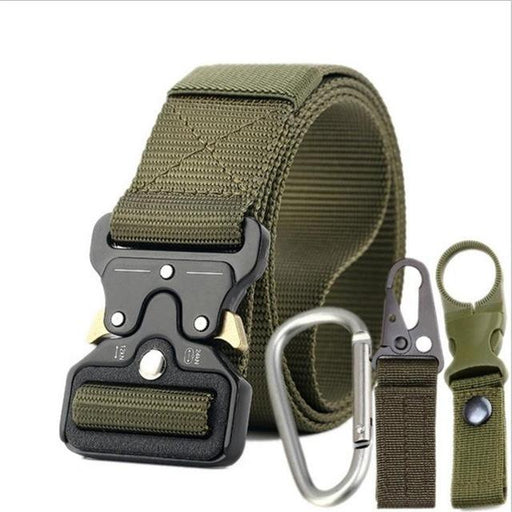 Nylon Canvas Quick-Release Metal Buckle Army Tactical Belt for Men - SolaceConnect.com