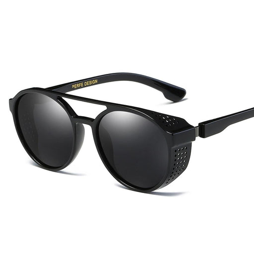 Polarized Round Blue Summer Shield Driving Sunglasses for Men with UV400 - SolaceConnect.com