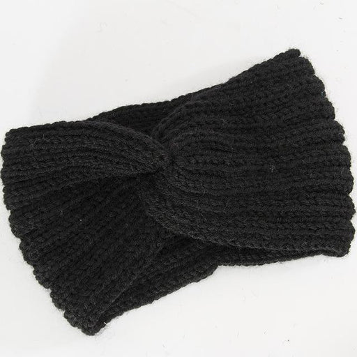 Winter Cap Solid Color Knitted Hats Ponytail Beanie Winter Hat Women Braided Hair Band Warm - SolaceConnect.com