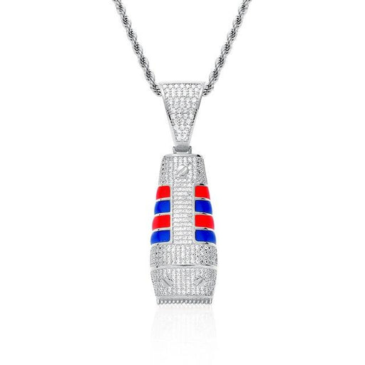 Men's Iced Out Shaver Pendant Necklace Micro Zircon Hip Hop Jewelry - SolaceConnect.com