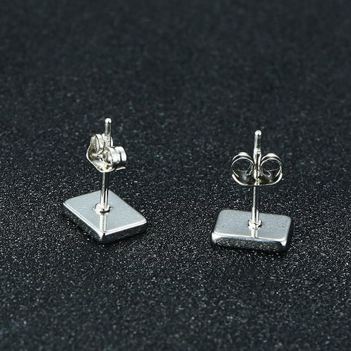 Stainless Steel Spades and Poker Design Casual Unisex Stud Earrings - SolaceConnect.com