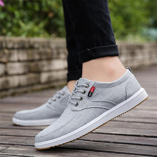 Men's Casual Breathable Sweat-Absorbant Anti-Odor Canvas Walking Shoes - SolaceConnect.com