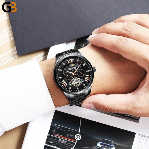 Men's Luxury Automatic Mechanical Tourbillon Skeleton Watches - SolaceConnect.com