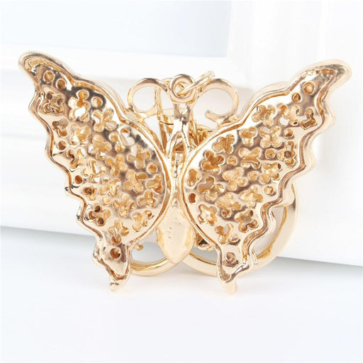 Lovely Butterfly Stone Pendant Charm Rhinestone Crystal Purse Bag Keyring Key Chain Accessories - SolaceConnect.com