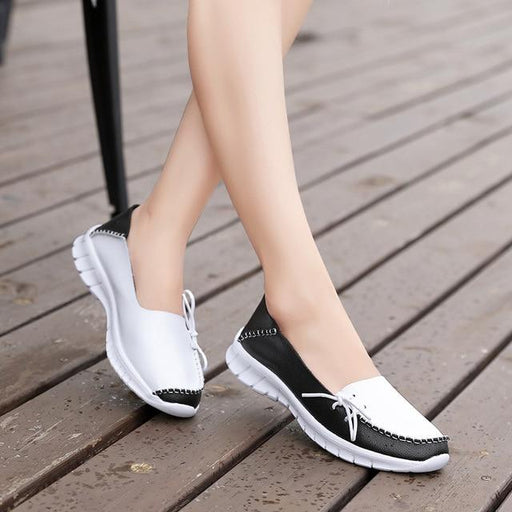 Women's High Quality Handmade Leather Slip-on Flats for Autumn 2019 - SolaceConnect.com