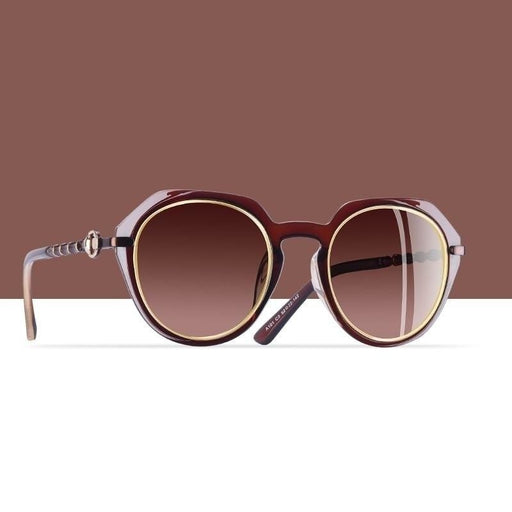 AOFLY BRAND DESIGN Polarized Sunglasses Women 2019 Classic Sun Glasses Female Round Gradient Lens - SolaceConnect.com