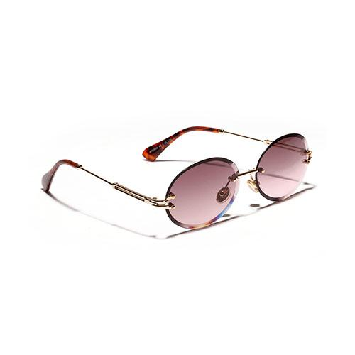 High Quality Rimless Acrylic Lens Alloy Frame Oval Sunglasses for Women - SolaceConnect.com