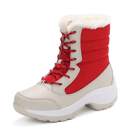 Women Boots Waterproof Winter Shoes Women Snow Boots Platform Keep Warm Ankle Winter Boots With - SolaceConnect.com