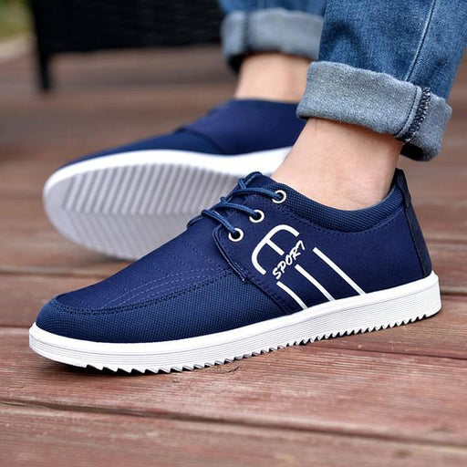 Luxury Fashion Casual Breathable Flat Canvas Basic Shoes for Men - SolaceConnect.com