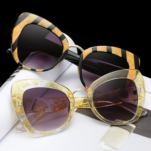 Oversized Cat Eye Sunglasses women luxury brand 2019 cateye eye glasses love shape stylish - SolaceConnect.com