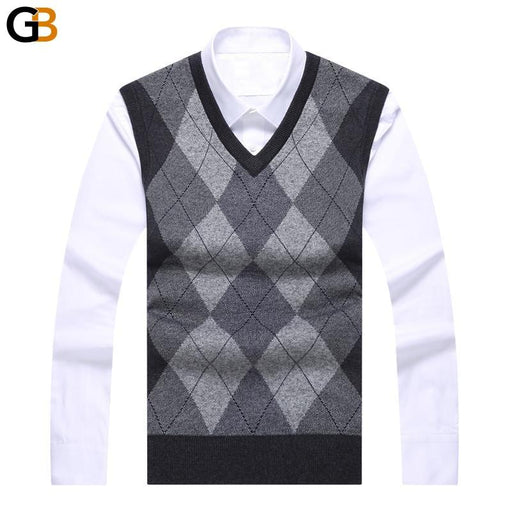 Men's Pullover Slim Fit Knit Sleeveless Fashion Brand Sweaters - SolaceConnect.com