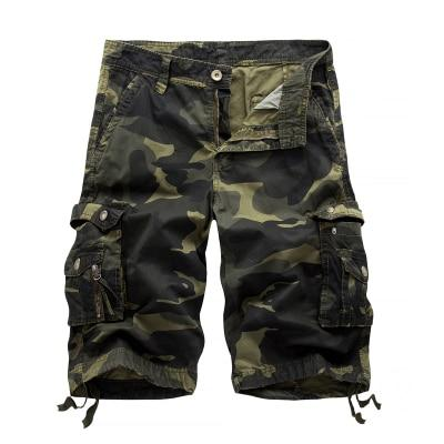 Men's Multipocket Military Camo Cargo Summer Shorts Casual Army Bermudas - SolaceConnect.com