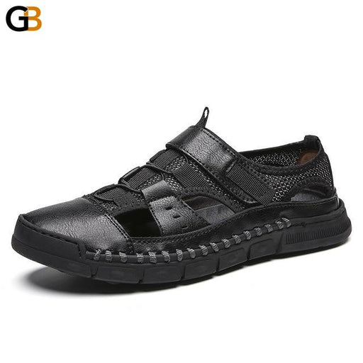 2019 Men's Genuine Leather Cowhide Summer Quality Sandals & Casual Slippers - SolaceConnect.com