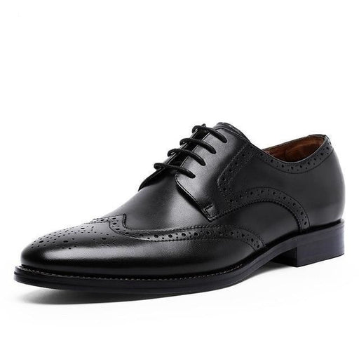 British Style Men's Brock Hollow Oxford Business Dress shoes - SolaceConnect.com