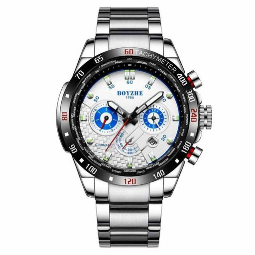 Men's Automatic Military Sport Mechanical Chronograph Water Resistant Watch - SolaceConnect.com