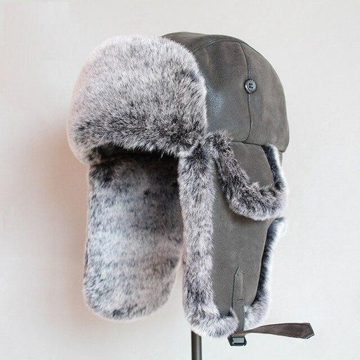Adult Winter Warm Lei Feng Hat Men's and Women's Leather Ear Protection Hat Man Lady Winter Cap - SolaceConnect.com