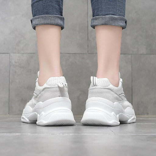 Women's Breathable Mesh Thick Sole Chunky Sneakers for Running - SolaceConnect.com