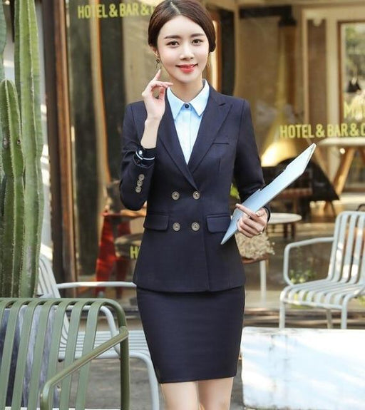 Quality Slim Fit Women's Pantsuit with Long Sleeve Blazer and Trouser - SolaceConnect.com