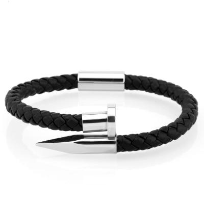 Mcllroy Bracelet Men' and 'genuine leather' and 'stainless steel' and 'luxury' and 'men bracelet - SolaceConnect.com